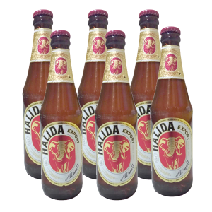 6 chai bia Halida Export Lager All Malt 355ml