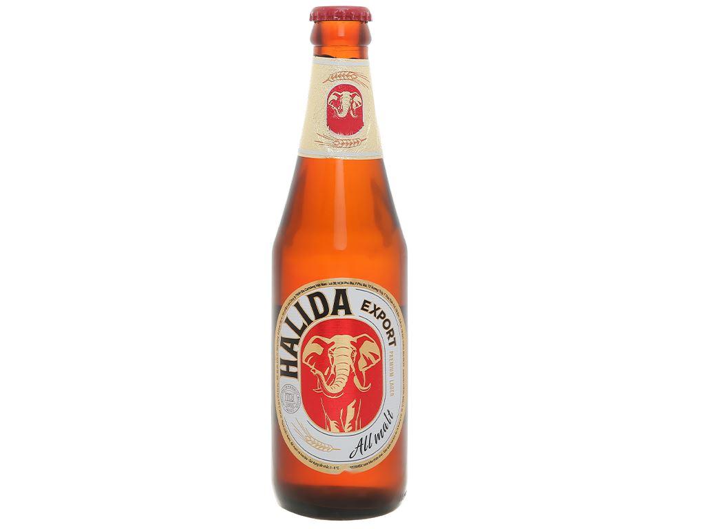 6 chai bia Halida Export Lager All Malt 355ml 3