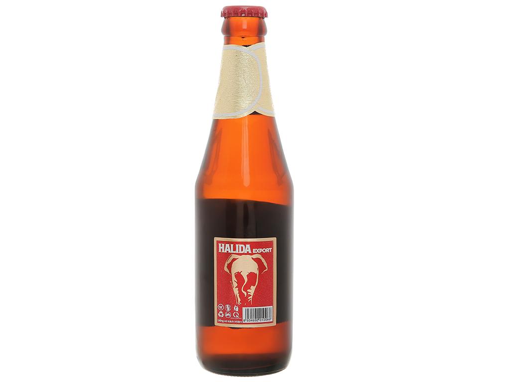 6 chai bia Halida Export Lager All Malt 355ml 4