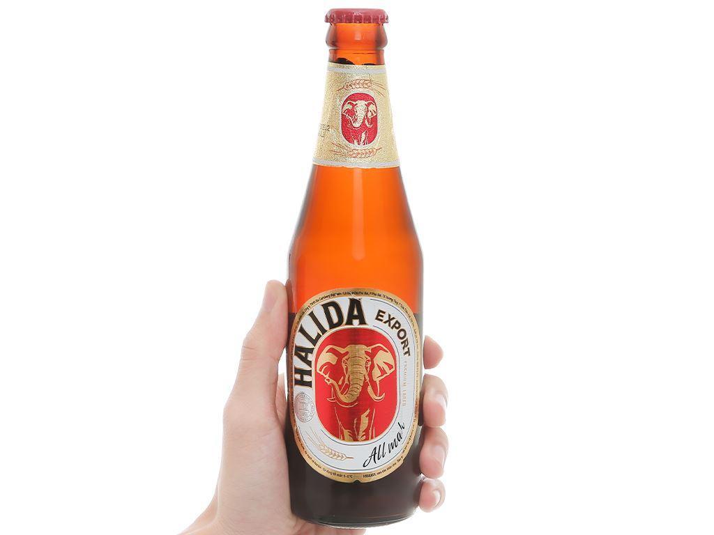 Thùng 24 chai bia Halida Export Lager All Malt 355ml 5