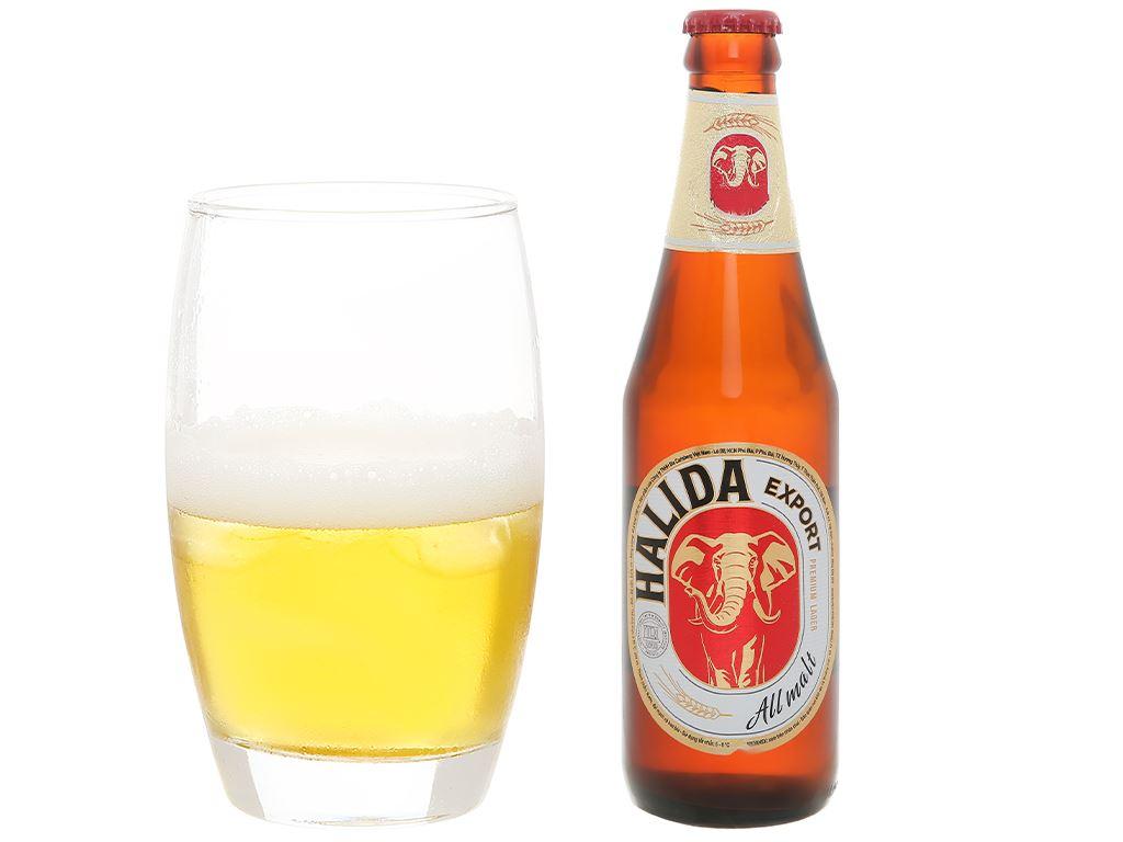 Thùng 24 chai bia Halida Export Lager All Malt 355ml 6