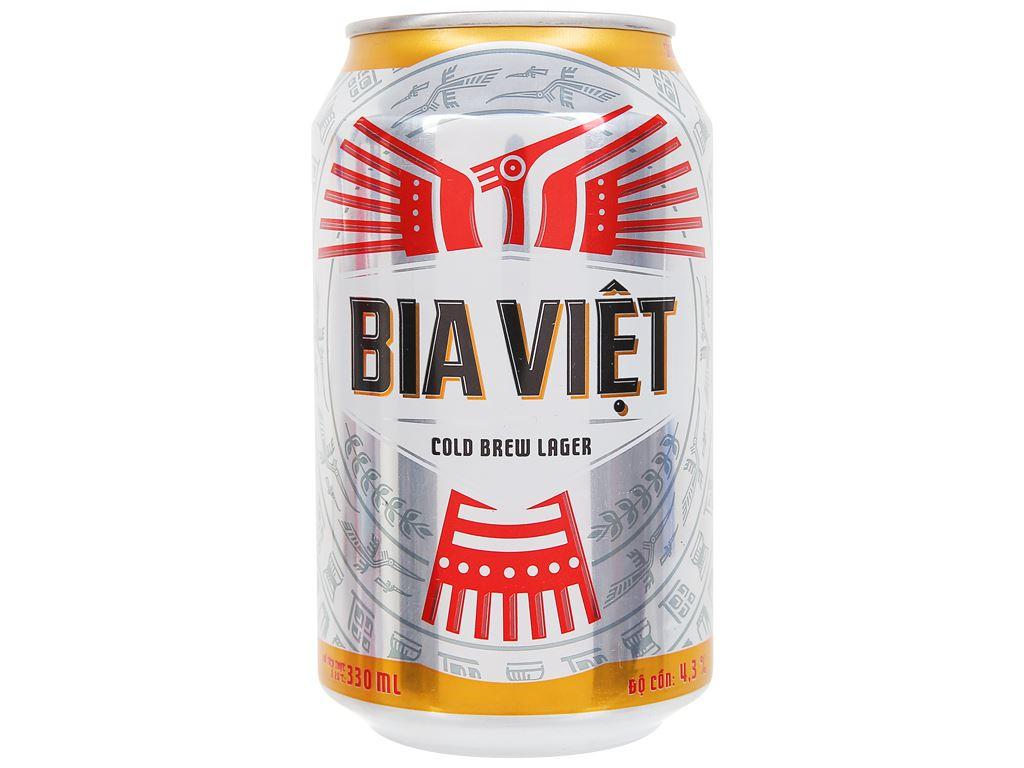 6 lon Bia Việt 330ml 2