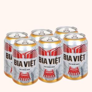 Lốc 6 lon Bia Việt 330ml