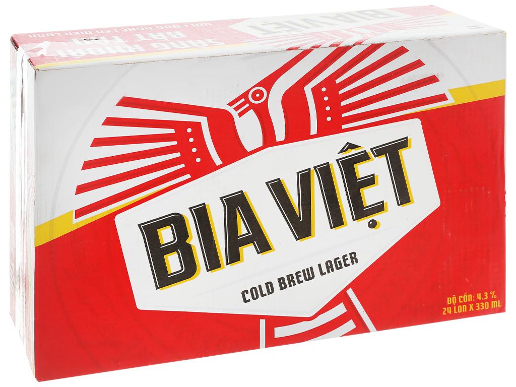 Thùng 24 lon Bia Việt 330ml 1