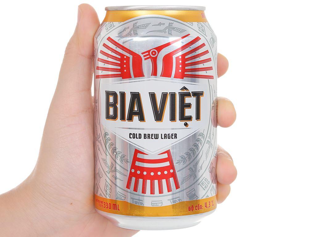 Thùng 24 lon Bia Việt 330ml 5