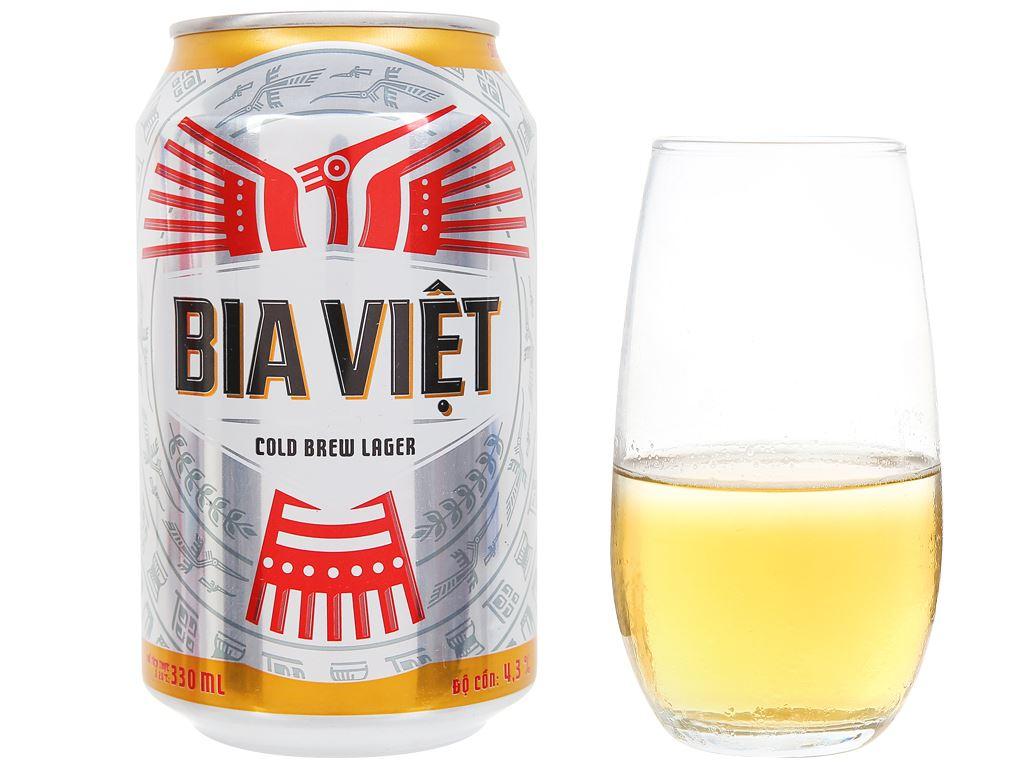 Thùng 24 lon Bia Việt 330ml 6