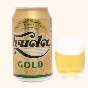 Bia Huda Gold lon 330ml