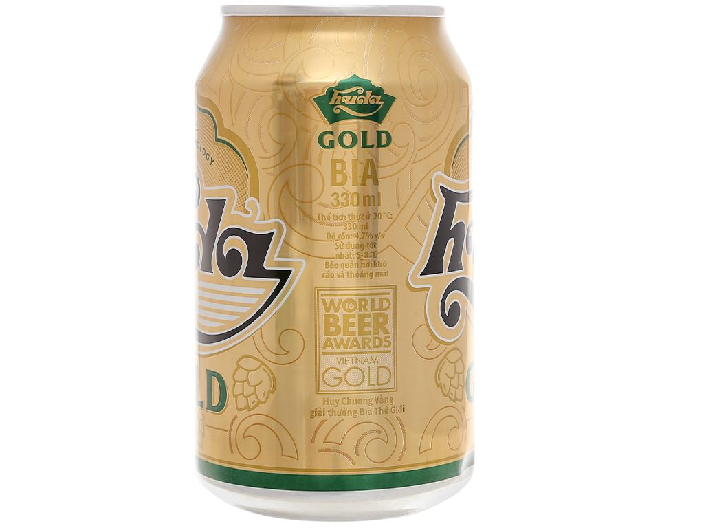 Thùng 24 lon bia Huda Gold 330ml 3