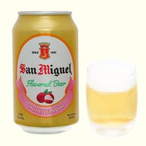 Bia trái cây San Miguel vị vải lon 330ml