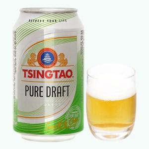 Bia Tsingtao Pure Draft lon 330ml