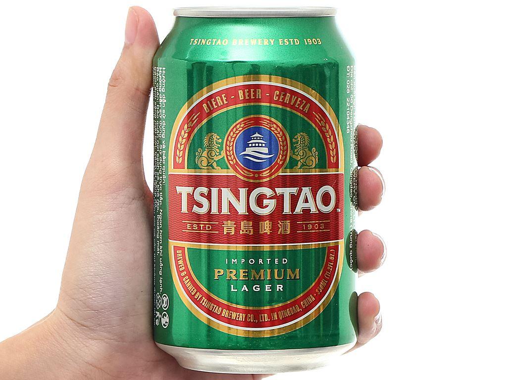 Thùng 24 lon bia Tsingtao Lager lon 330ml 6