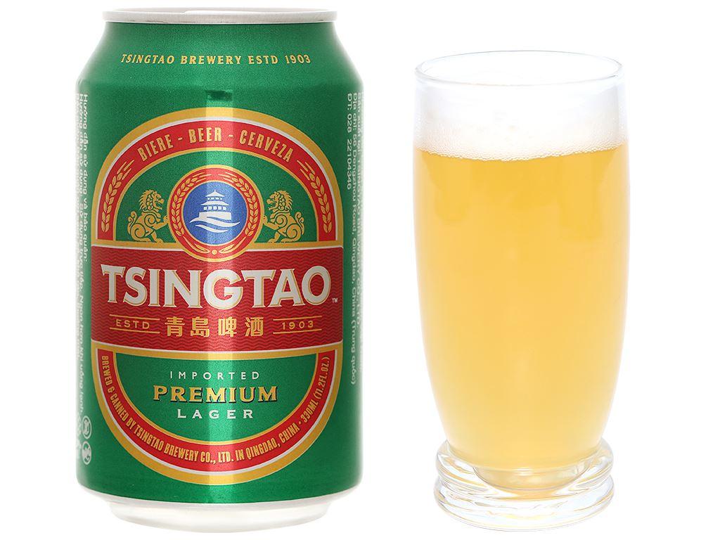 Thùng 24 lon bia Tsingtao Lager lon 330ml 7