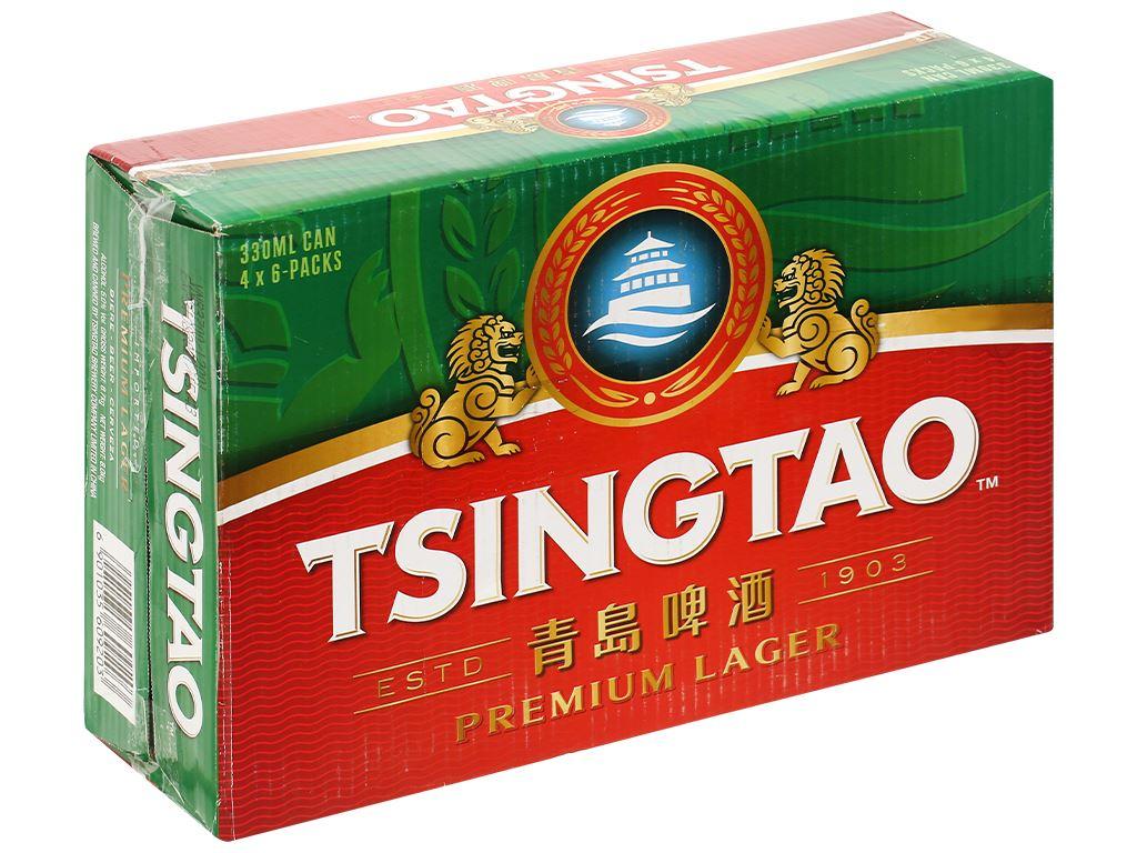 Thùng 24 lon bia Tsingtao Lager lon 330ml 1