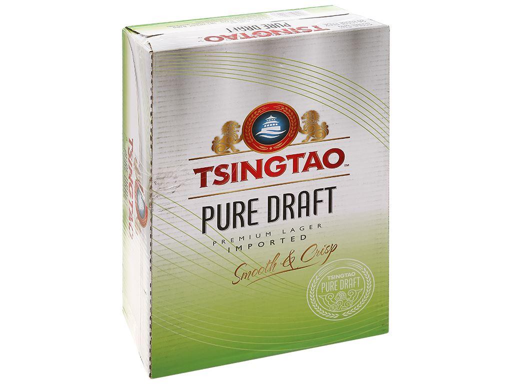 Thùng 24 lon bia Tsingtao Pure Draft lon 330ml 1