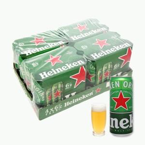 Khay 24 lon bia Heineken Sleek 330ml
