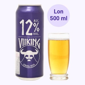 Bia Viiking Strong Beer 12% lon 500ml