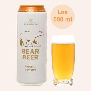 Bia Bear Beer Bear Wheat Import 5.0% lon 500ml