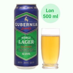 Bia Gubernija Noble Lager 5.2% lon 500ml