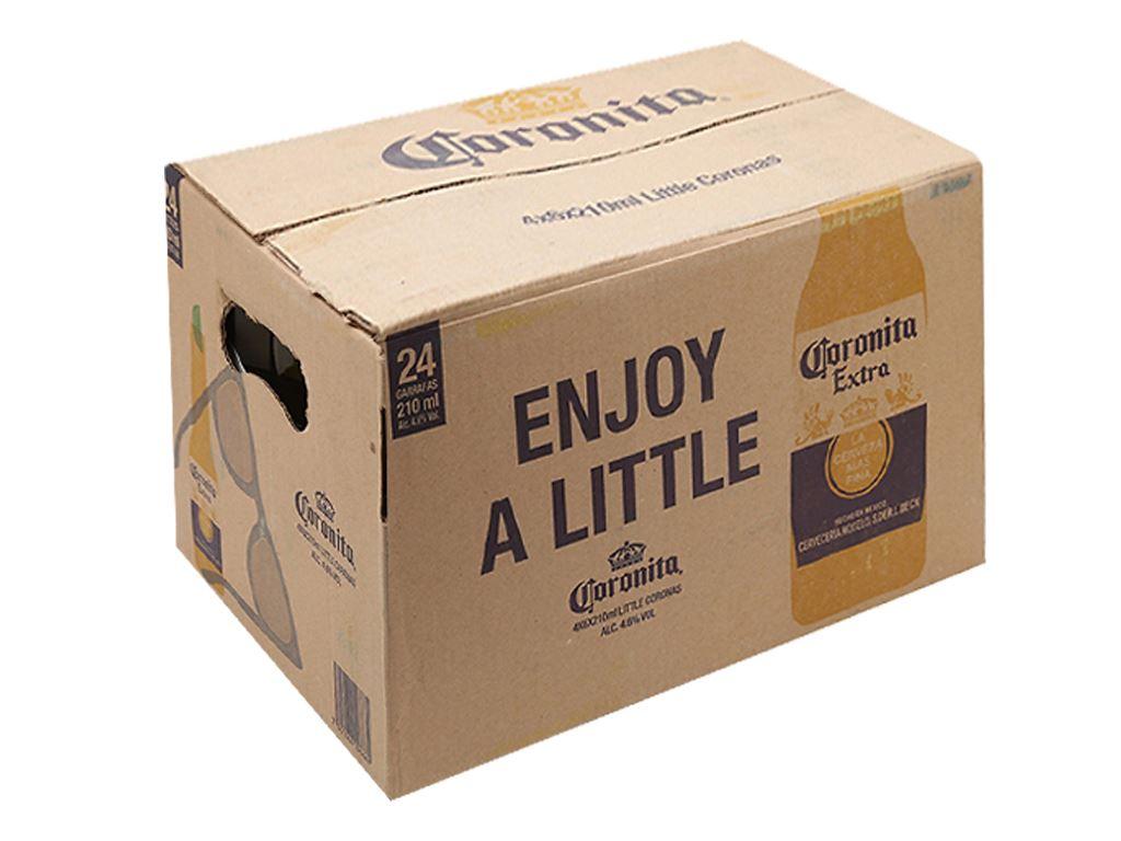 Thùng 24 chai bia Coronita Extra 210ml 1
