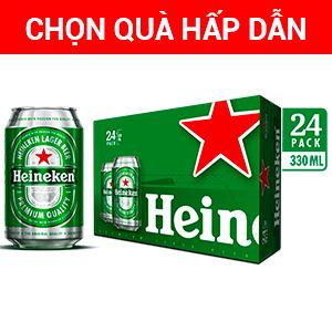 Thùng bia Heineken lon 330ml (24 lon)