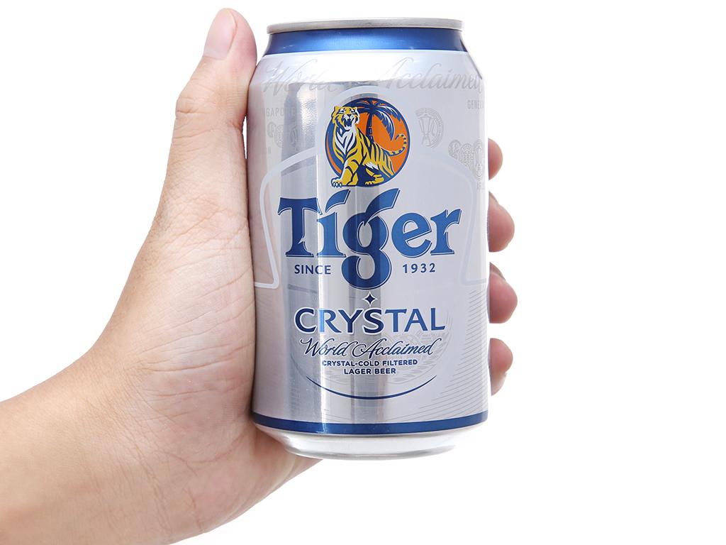 Thùng 24 lon bia Tiger Crystal 330ml 6