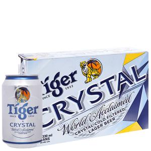 Thùng 24 lon bia Tiger Crystal 330ml