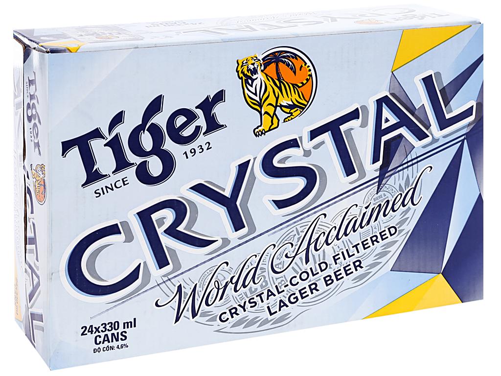 Thùng 24 lon bia Tiger Crystal 330ml 2