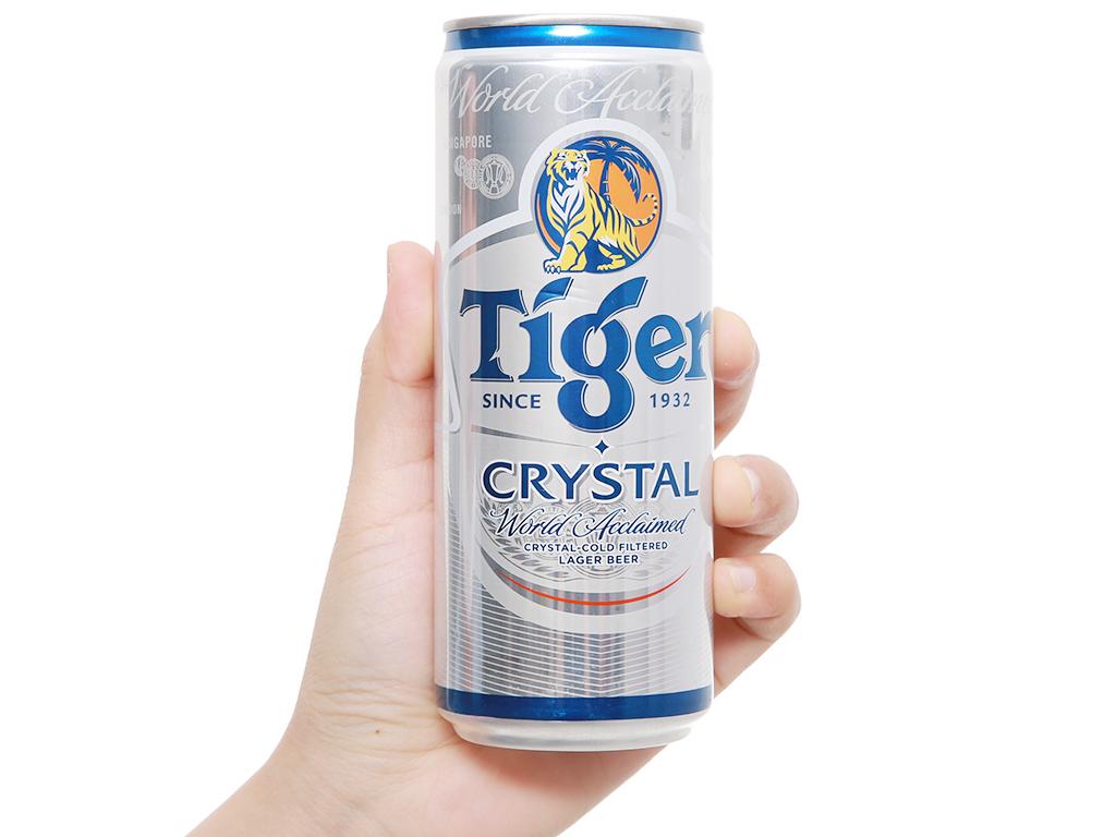 Thùng 24 lon bia Tiger Crystal 330ml 11