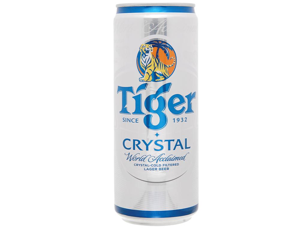 Thùng 24 lon bia Tiger Crystal 330ml 12