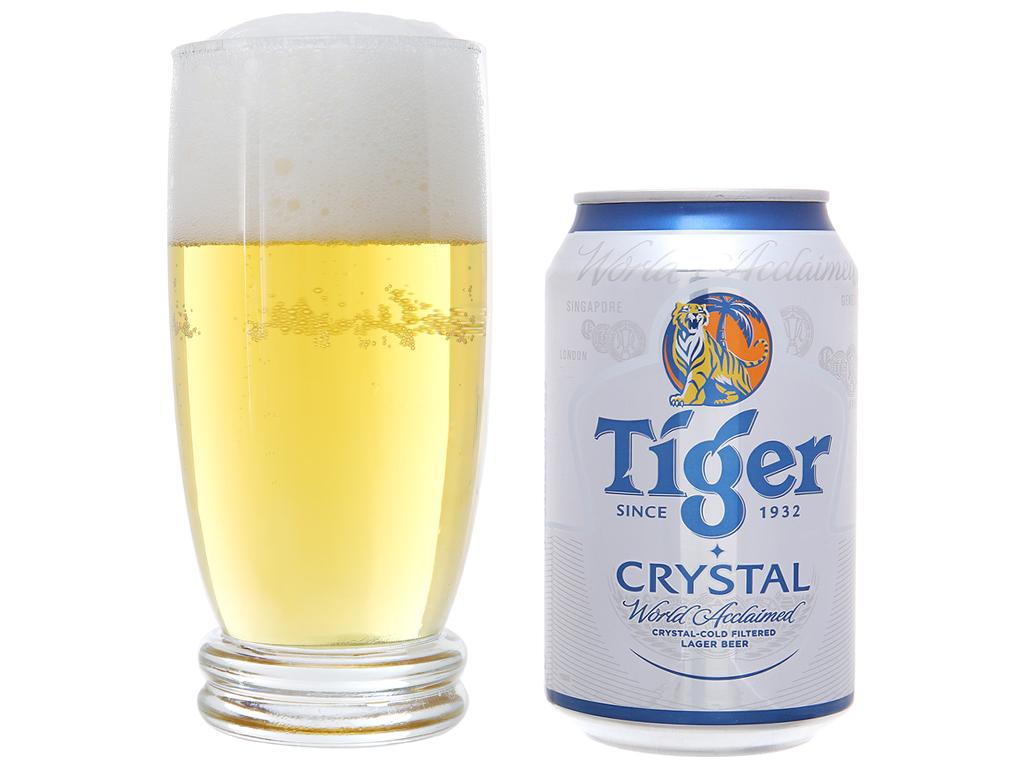 Thùng 24 lon bia Tiger Crystal 330ml 7