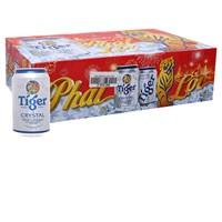 Thùng bia Tiger bạc Crystal lon 330ml (24 lon)