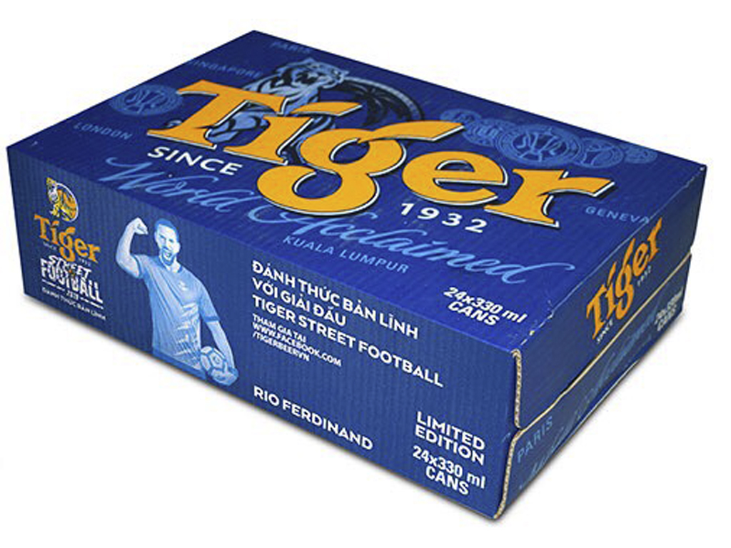 Thùng 24 lon bia Tiger 330ml 1