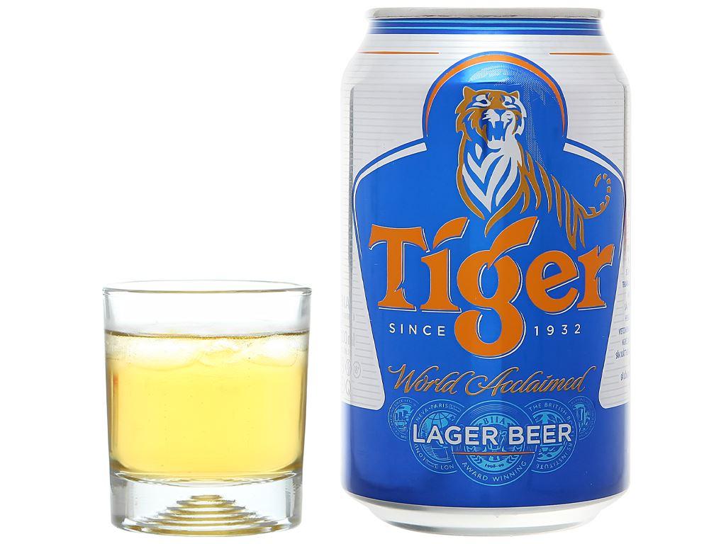 Thùng 24 lon bia Tiger 330ml 7