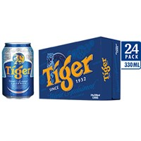 Thùng bia Tiger xanh lon 330ml (24 lon)