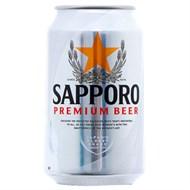 Bia Sapporo bạc lon 330ml