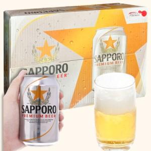 Thùng 24 lon bia Sapporo 330ml