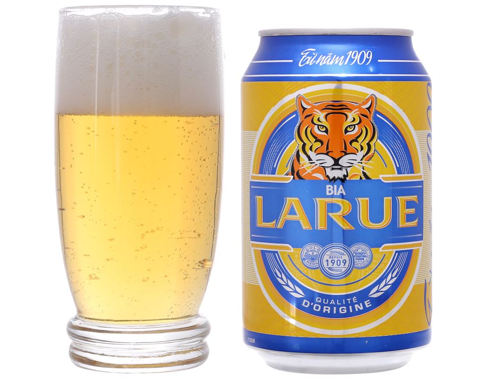 Thùng 24 lon bia Larue Xanh 330ml 4