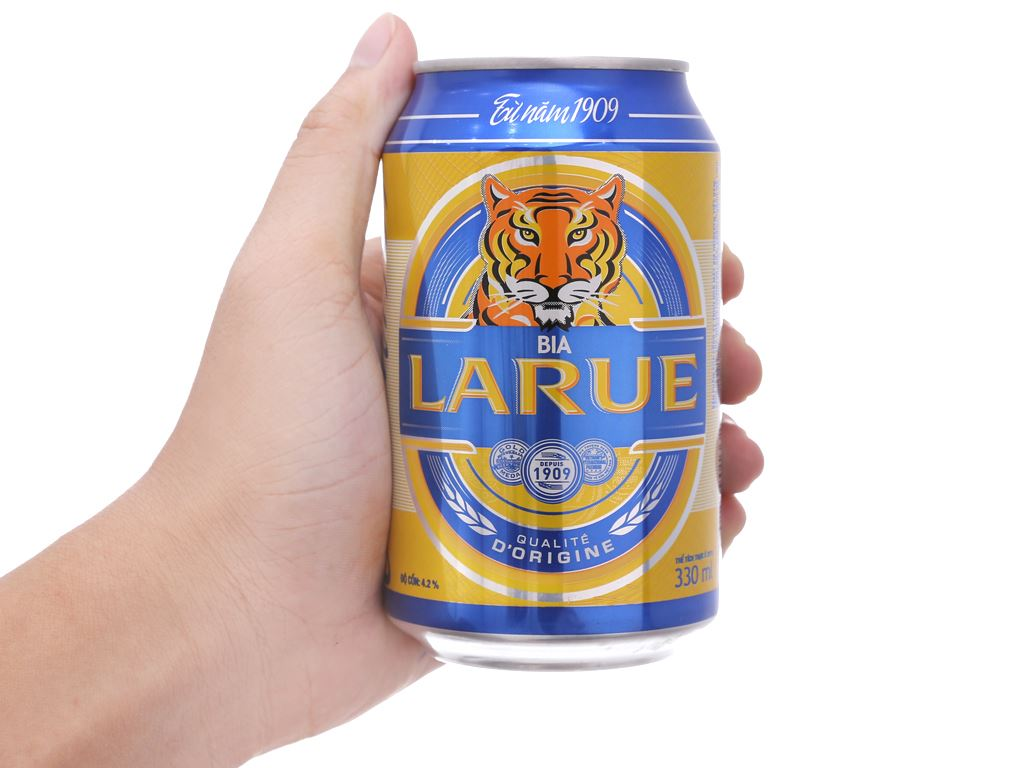 Thùng 24 lon bia Larue Xanh 330ml 5