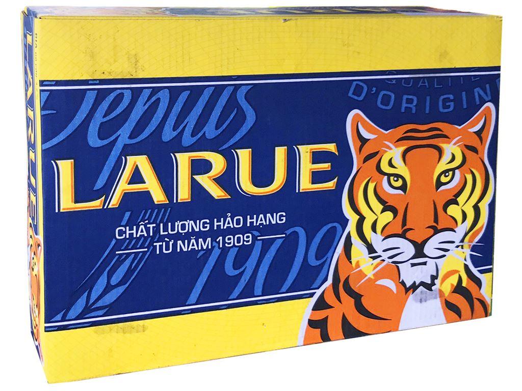Thùng 24 lon bia Larue Xanh 330ml 1
