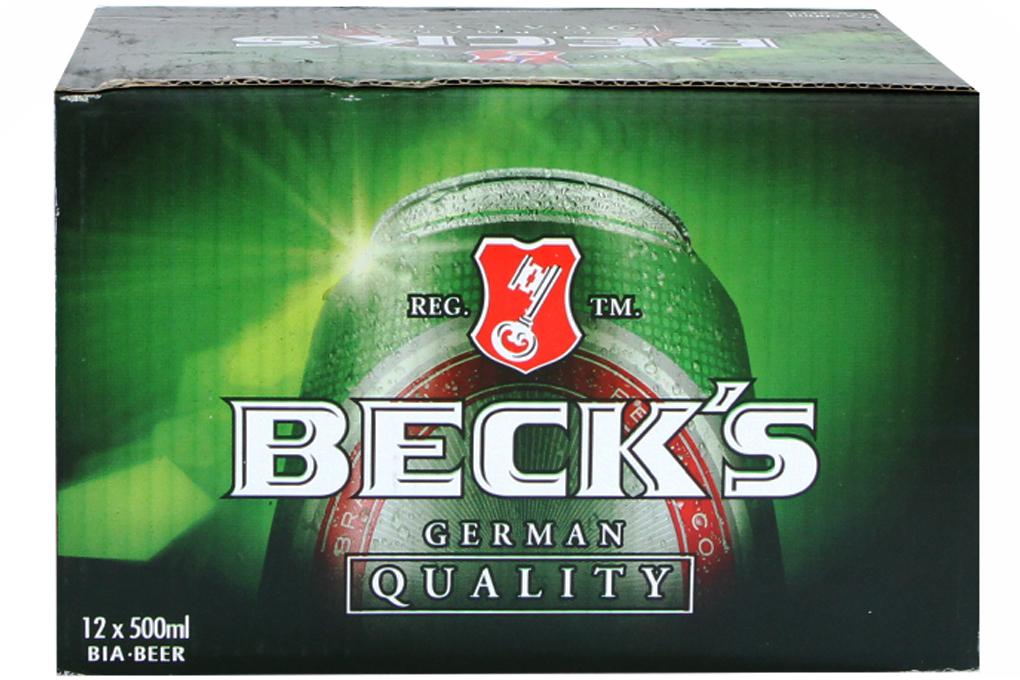 Bia Beck's lon 500ml (thùng 12 lon)