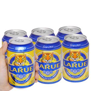 6 lon bia Larue Xanh 330ml