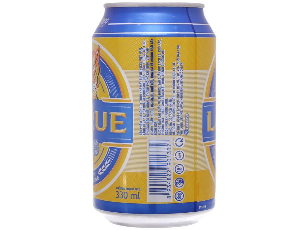 6 lon bia Larue Xanh 330ml 4