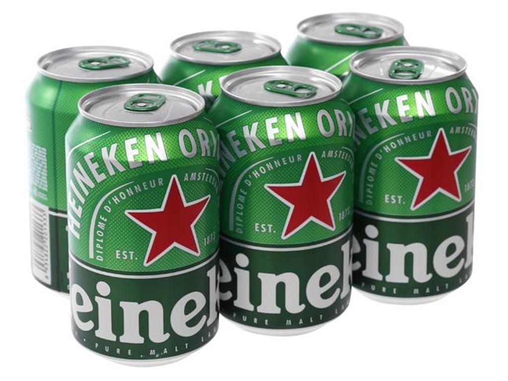 6 lon bia Heineken 330ml 1