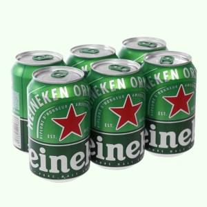 6 lon bia Heineken 330ml