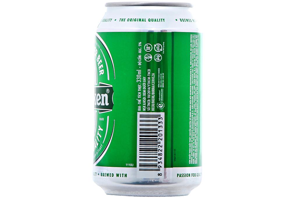 Bia Heineken lon 330ml