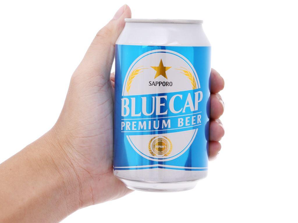 6 lon bia Sapporo Blue Cap 330ml 6