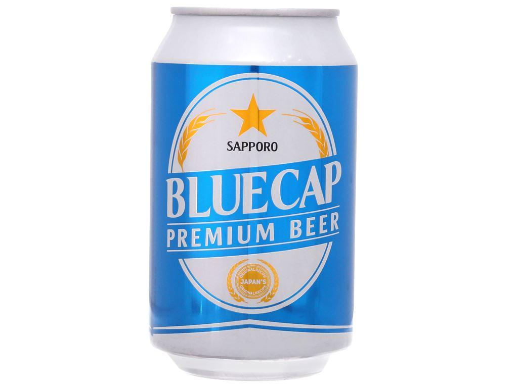 6 lon Bia Sapporo Blue Cap 330ml 2