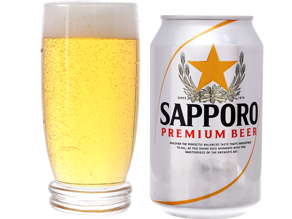 6 lon Bia Sapporo 330ml 4