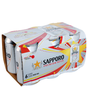 Lốc 6 lon Bia Sapporo 330ml
