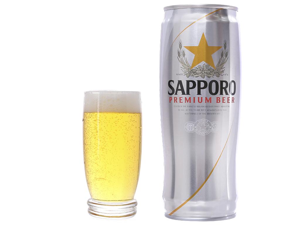 Lốc 6 lon bia Sapporo 650ml 4